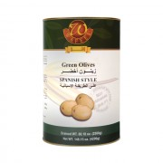 Spanish Style Whole Green Olives 261/290 DWT: 2.500 Kg NWT: 4.200 Kg x 4 Tins